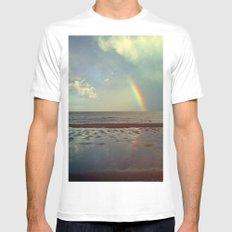 Rainbow Over Sea Mens Fitted Tee White MEDIUM