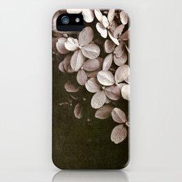 hydrangea too iPhone Case