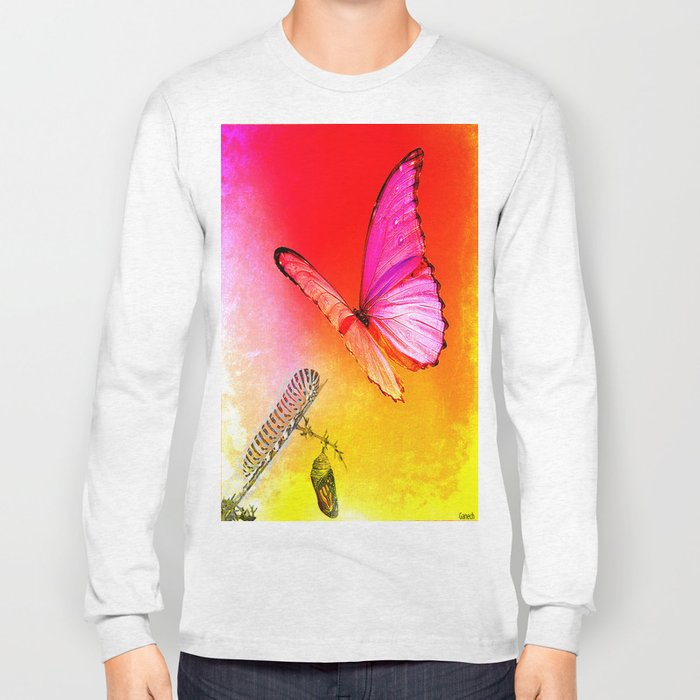 The butterfly, the caterpillar and the chrysalis Long Sleeve T-shirt