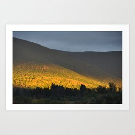 Berkshire Mountain view Art Print