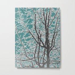 Nature Vector Style Illustration Metal Print