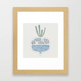 Turnip Framed Art Print