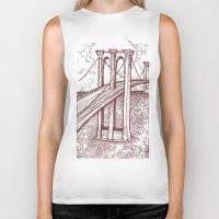 bridge Biker Tanks featuring Bridge by Howard Coale