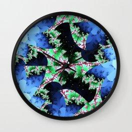 Julia's Nebula - abstract fractal art Wall Clock