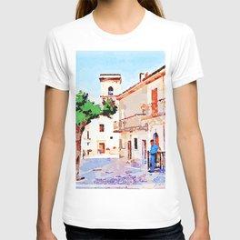 Borrello: man tree and bell tower T-shirt