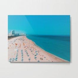 Turquoise Ocean Miami Beach Metal Print