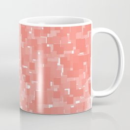Peach Echo Pixels Coffee Mug