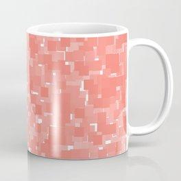 Peach Echo Pixels Coffee Mug