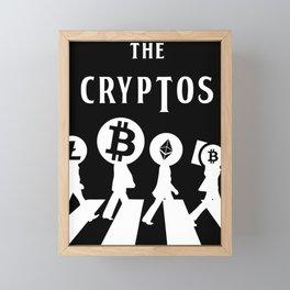 The Cryptos Abbey Road Framed Mini Art Print