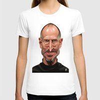 celebrity T-shirts featuring Celebrity Sunday ~ Steve Jobs by rob art | illustration