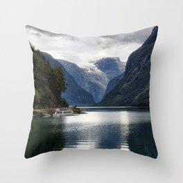 Nærøyfjord - Norway Throw Pillow