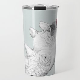 White Rhino with Proteas Travel Mug