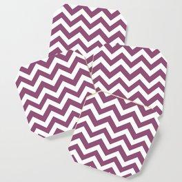 Sugar Plum - violet color - Zigzag Chevron Pattern Coaster