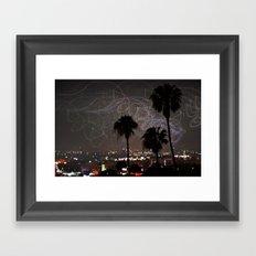 Los Angeles at Night Framed Art Print