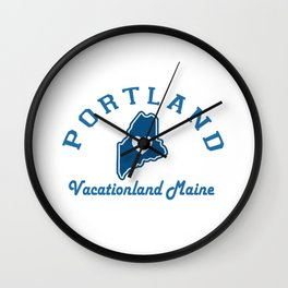 Portland Maine. Wall Clock