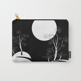 Black and White Abstract Road at Midnight Carry-All Pouch