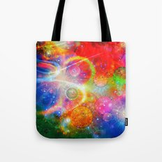Altered Orbs in Space Tote Bag