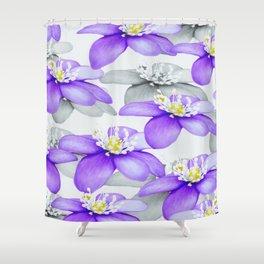 Spring Forest Blue Flowers #decor #society6 #buyart Shower Curtain
