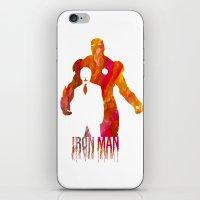 iron man iPhone & iPod Skins featuring Iron Man by Jon Hernandez