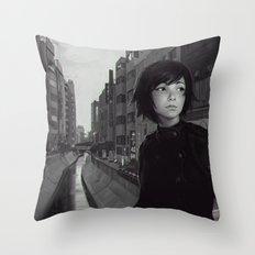 Shibuya River Throw Pillow