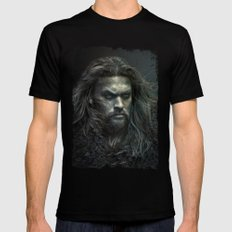 New Aquaman - Jason Momoa portrait Black MEDIUM Mens Fitted Tee