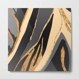 Bronze River Metal Print
