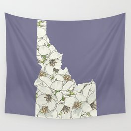 Idaho in Flowers Wall Tapestry