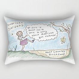 American Abroad -Overseas Quicksand Rectangular Pillow