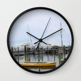 The Yellow Boat Wall Clock