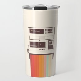Instant Camera Rainbow Travel Mug