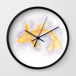 Golden Koi Wall Clock