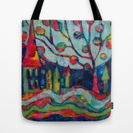 Bunny's Village Tote Bag