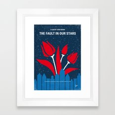 No340 My The Fault in Our Stars minimal movie poster Framed Art Print