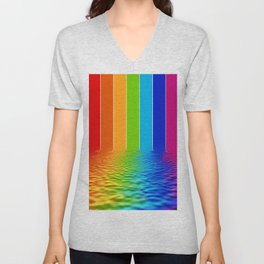 spectrum water reflection Unisex V-Neck