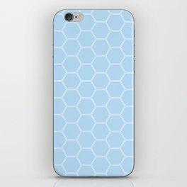 Honeycomb Light Blue #304 iPhone Skin