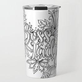 Boss Lady Adult Coloring Design Travel Mug