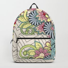 Decorated vase with flowers Backpack