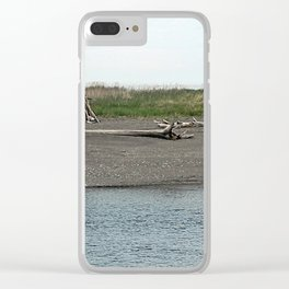 Driftwood River Camp Clear iPhone Case