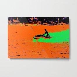 Summer Jetting - Jet Ski Fun Metal Print