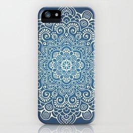 Mandala dark blue iPhone Case