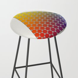 Lichtenberg-Mayer Colour Triangle recoloured remake, based on Mayer's original idea and illustration Bar Stool
