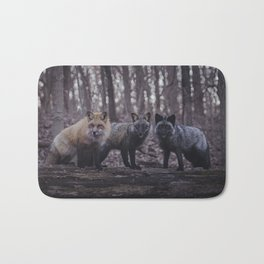 Red Fox (Vulpes vulpes) Color Phases Bath Mat