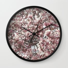 Magnolia Blossoms Wall Clock