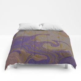 ,gold,rose,black,golden fractal, vibrations, circles modern pattern Comforters