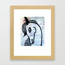 A horse from foreign country Framed Art Print