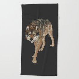 Wondering Wolf Beach Towel