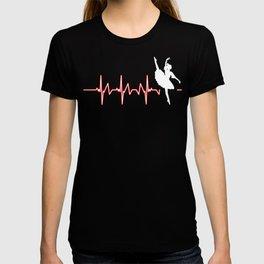 Ballet Heartbeat Dancing Dancers Ballerina Music Gift T-shirt