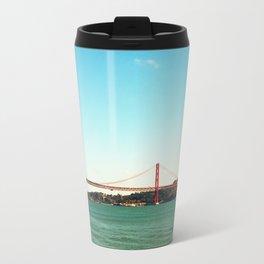 Lisbon red brdge - Analog 6x6 Kodak Ektar 100 (RR159) Travel Mug