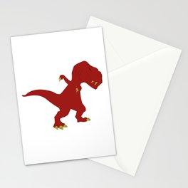 Funny Red Dabbing T-Rex Jurassic Jura Dinosaur Design Stationery Cards