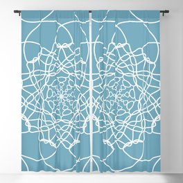 Mandala String Theory of Aqua Blackout Curtain